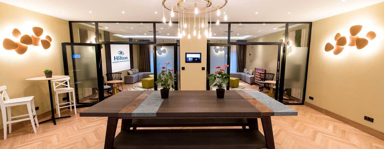Hilton Diagonal Mar Barcelona Hotel, Spanien– Foyer des Social Hub