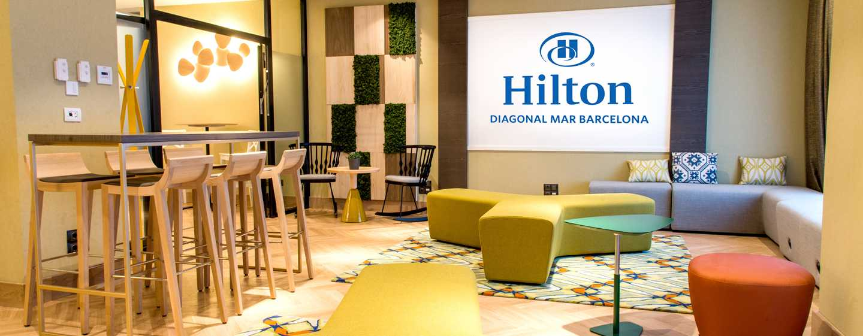 Hilton Diagonal Mar Barcelona Hotel, Spanien– Social Hub