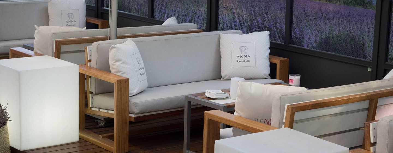 Hilton Barcelona Hotel, Spanien– saisonal geöffnete Terrasse