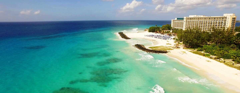 Hilton Barbados Resort, Barbados – Außenbereich des Hotels aus der Luft