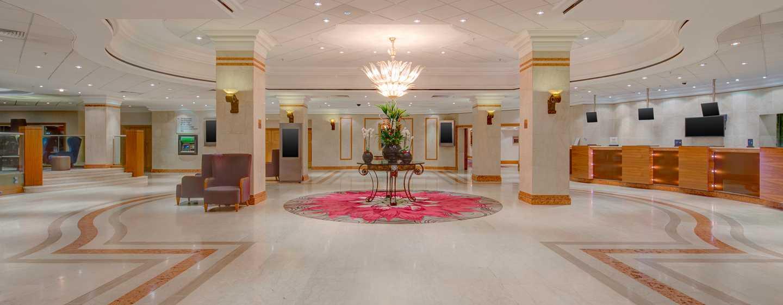 Hilton Birmingham Metropole, Großbritannien - Empfangsbereich der Hotel-Lobby