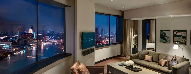 Millennium Hilton Bangkok, Thailand - Panoramic River Suite with Executive Lounge Access