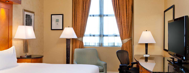 Hilton Boston Downtown/Faneuil Hall Hotel, USA– Standard Zimmer mit King-Size-Bett