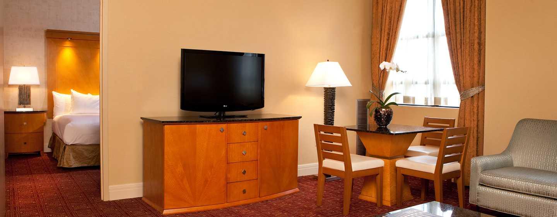 Hilton Boston Downtown/Faneuil Hall Hotel, USA– Sitzbereich der Suite