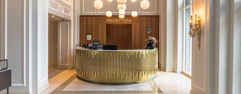 Hilton Brussels Grand Place Hotel, Belgien– Der Empfang