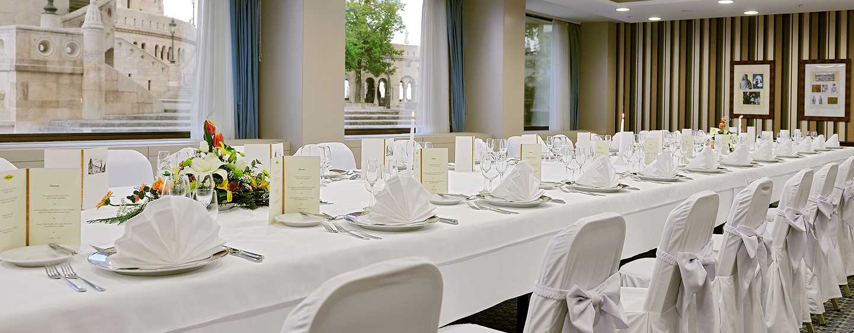 Hilton Budapest Hotel, Ungarn– Restaurant ICON– Ausblick aufs Parlament