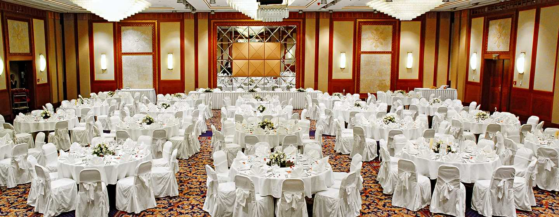 Hilton Budapest Hotel, Ungarn– Meetingraum Anjou– Galadiner