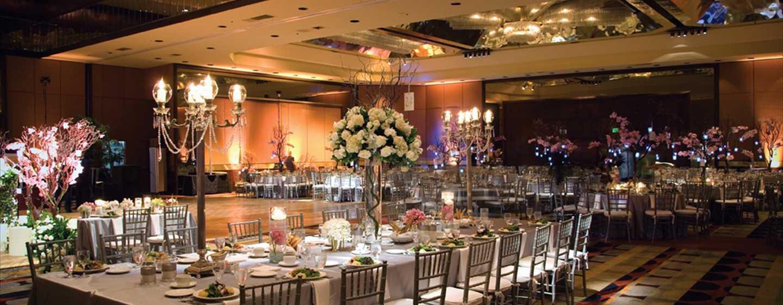 Hilton Los Angeles-Universal City, USA – Ballsaal mit Sonderbestuhlung