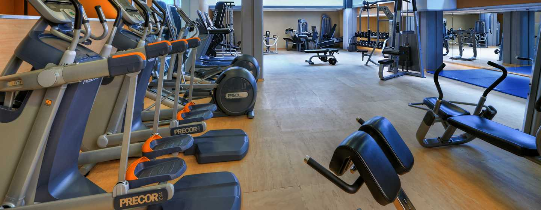 Hilton Cologne, Deutschland - Im Fitness Center können Sie sich Ihrem Training hingeben