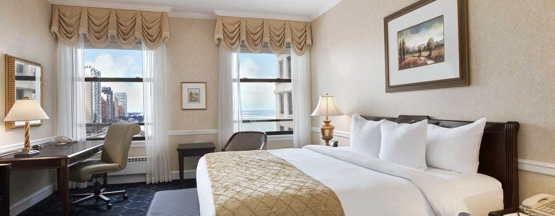 The Drake, A Hilton Hotel, Chicago, USA – Zimmer mit King-Size-Bett