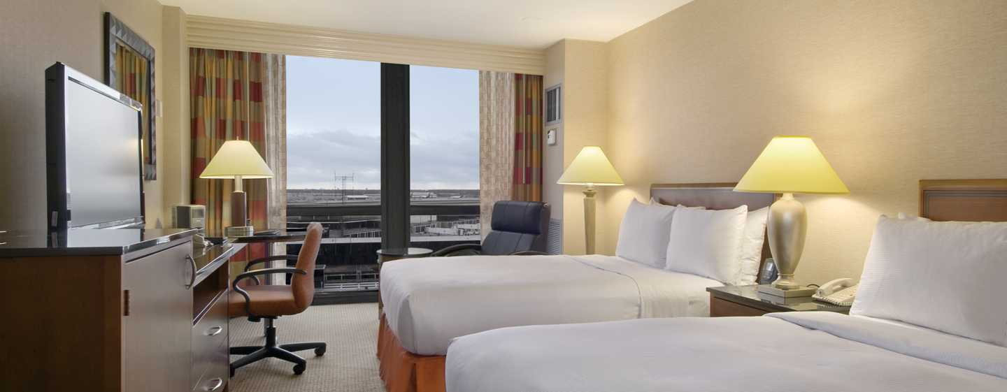 Hilton Chicago O'Hare Airport, USA - Two Queen Bed Guestroom