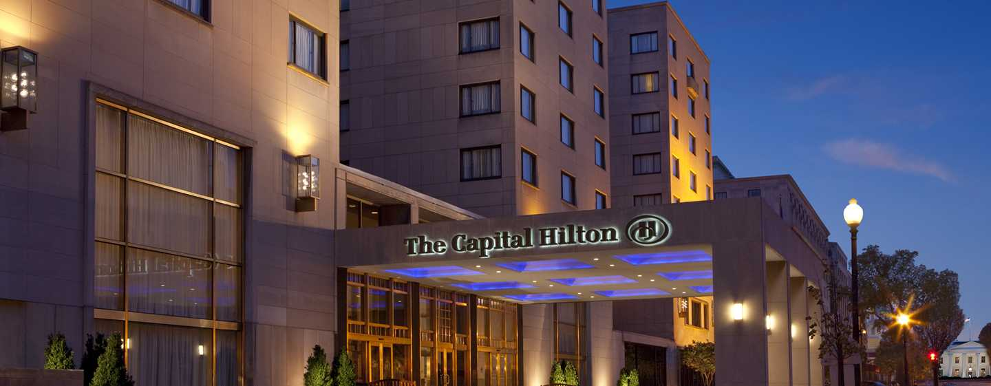 Capital Hilton Hotel, Washington D.C., USA – Außenansicht