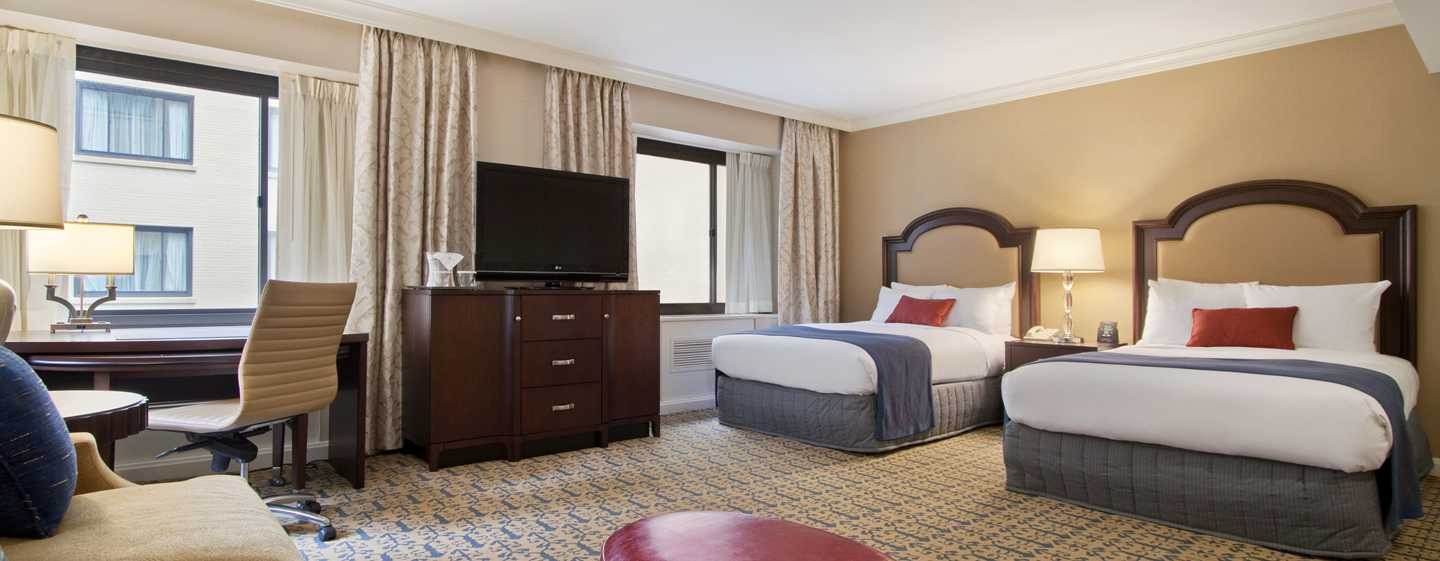 Capital Hilton Hotel Washington D C Usa Zwei Doppelbetten