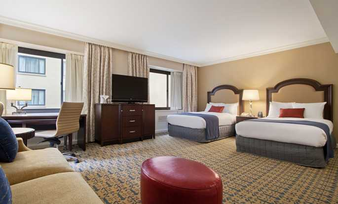 Capital Hilton Hotel, Washington D.C., USA – Zimmer mit Doppelbett