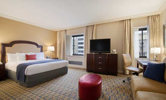Capital Hilton Hotel, Washington D.C., USA – Zimmer mit King-Size-Bett