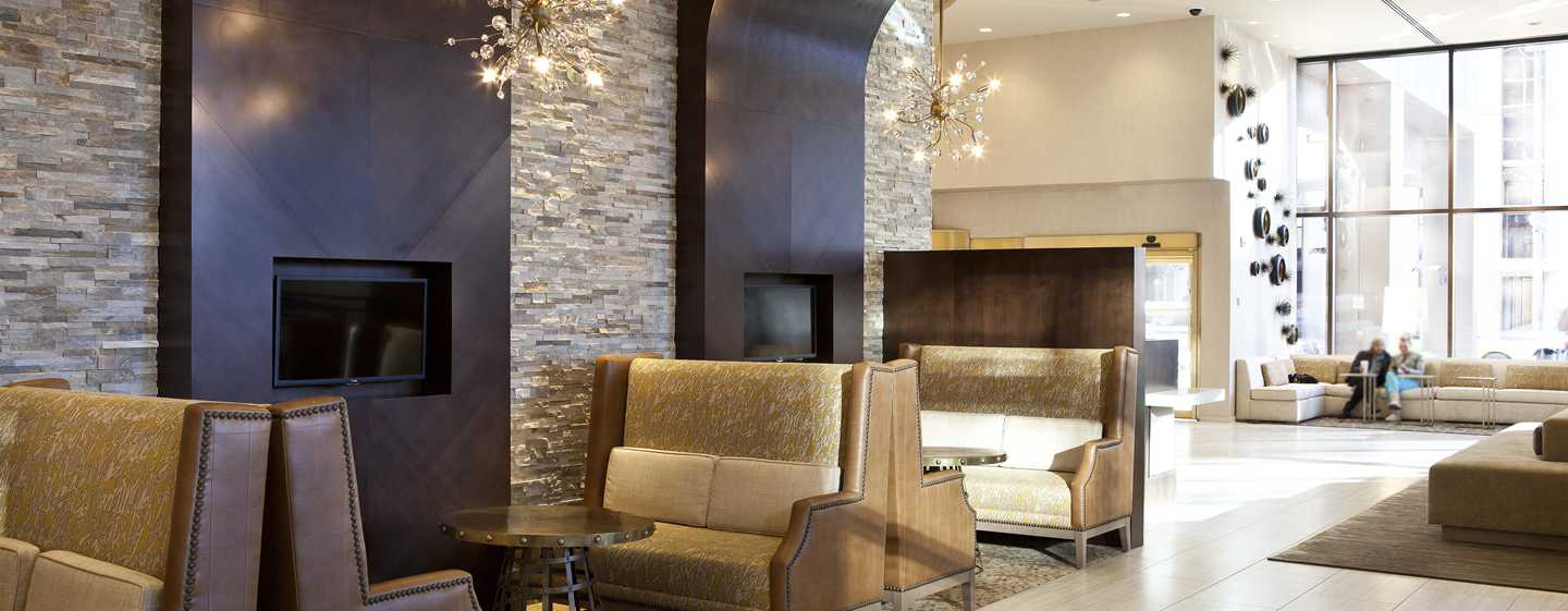 Hilton Denver City Center Hotel, CO, USA – Sitzbereich in Lobby