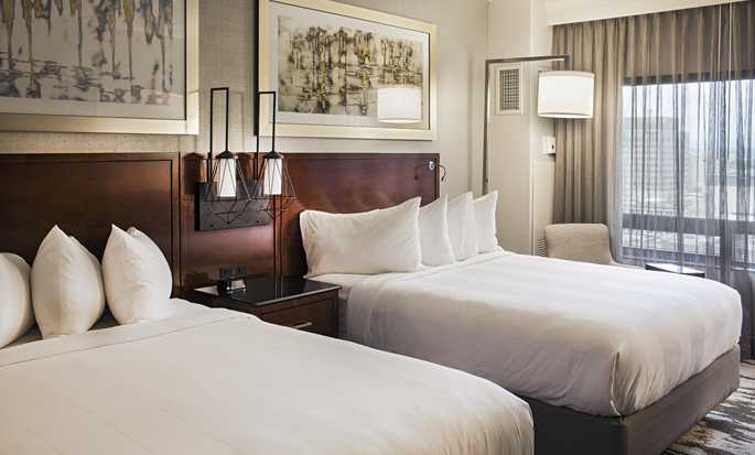 Hilton Denver City Center Hotel, CO, USA – Zimmer mit zwei Queensize-Betten