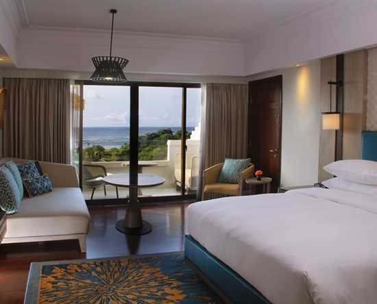 Hilton Bali Resort, Indonesien – Zimmer im Cliff Tower mit Meerblick