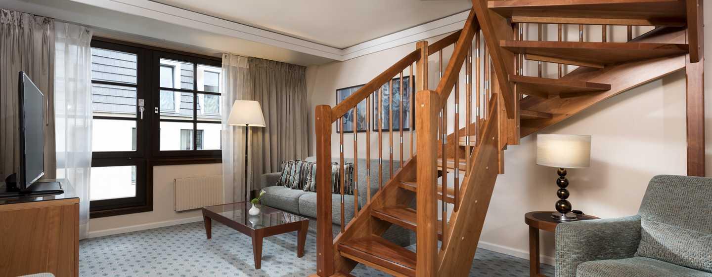 Hilton Dresden Hotel – King Junior Duplex Suite - untere Etage