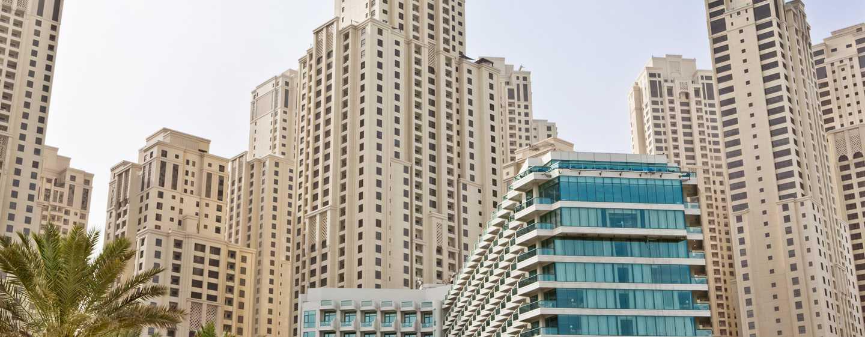 Hilton Dubai Jumeirah Hotel, Dubai, VAE– Außenbereich des Hotels