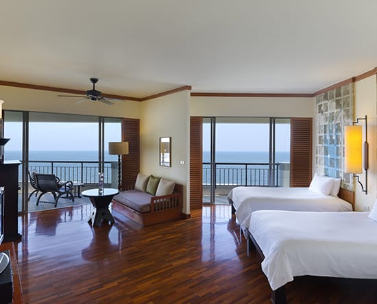 Hilton Hua Hin Resort & Spa hotel, Thailand - EXECUTIVE JUNIOR SUITE MIT ZWEI DOPPELBETTEN