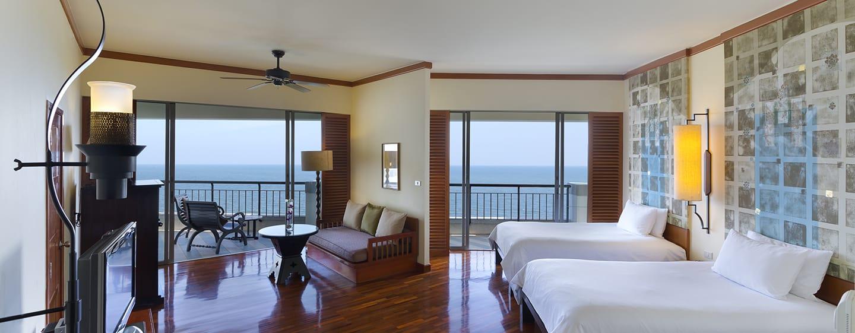 Hilton Hua Hin Resort & Spa Hotel, Thailand – Premier Zimmer mit Einzelbett und Meerblick
