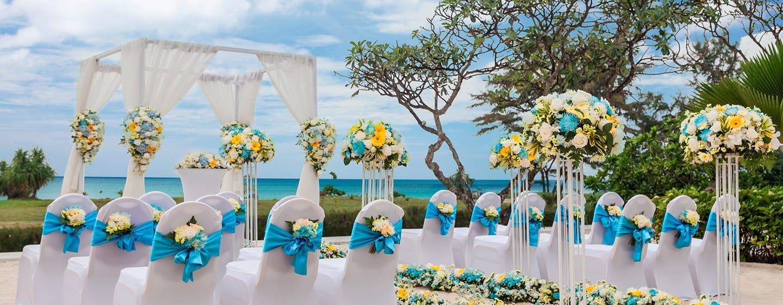 Hilton Phuket Arcadia Resort & Spa Hotel, Thailand– Außenansicht– Hochzeit nach westlichem Ritual im Hilton Phuket
