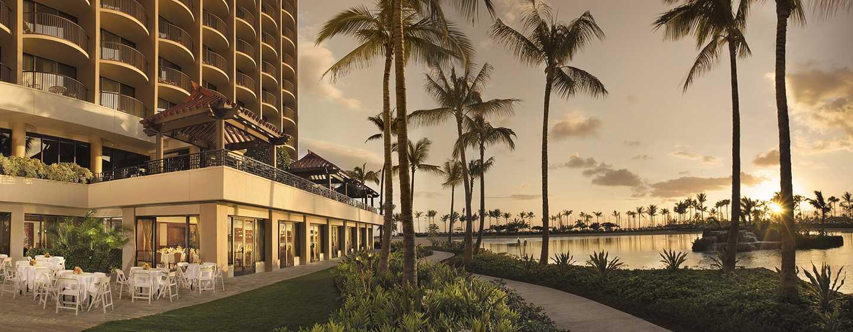 "Hilton Hawaiian Village Waikiki Beach Resort Hotel, Honolulu, Hawaii, USA– Veranstaltungsbereich ""Rainbow Patio"""