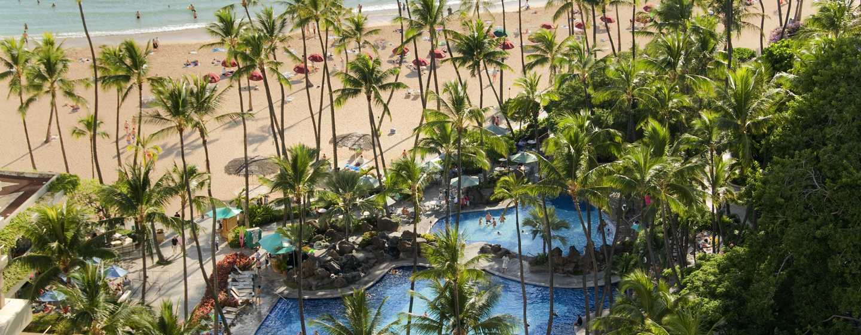 Hilton Hawaiian Village Waikiki Beach Resort Hotel, Honolulu, Hawaii, USA– Super Pool