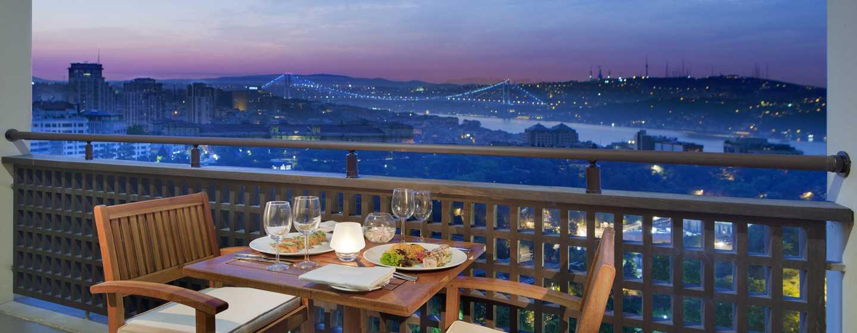 Hilton Istanbul Bosphorus Hotel, Türkei– Balkon