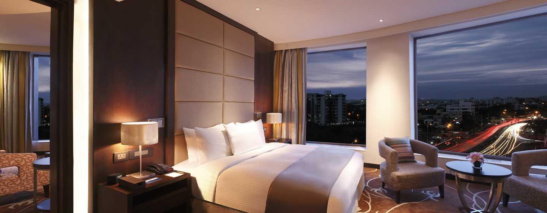 Hilton Jaipur Hotel, Indien – Hilton Suite – Aussicht bei Nacht