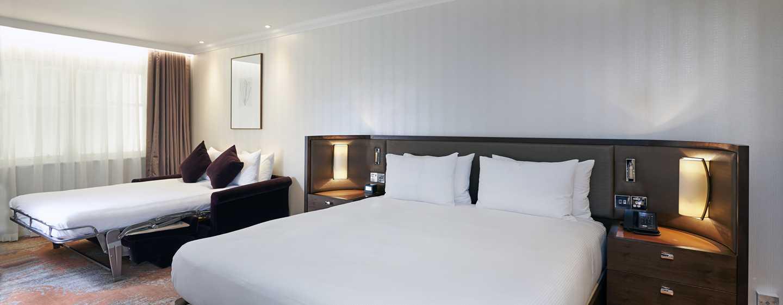 Hilton London Hyde Park, Großbritannien - Zimmer mit zwei Doppelbetten
