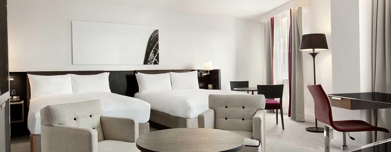 Hilton London Angel Islington Hotel, Großbritannien -Zimmer mit zwei Doppelbetten