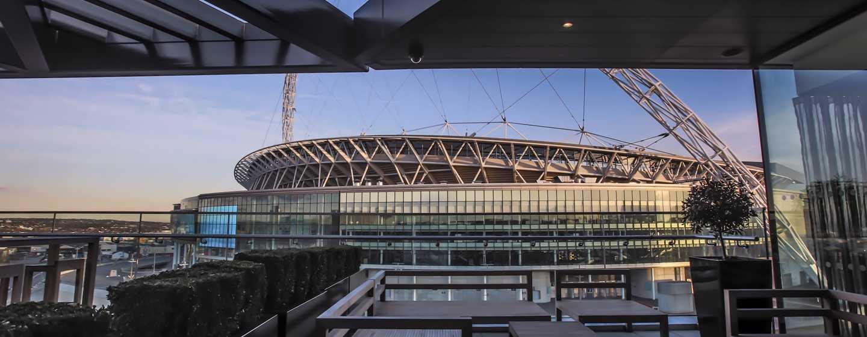 Hilton London Wembley, Großbritannien - Terrasse der Executive Lounge