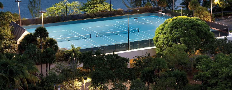 Hilton Miami Airport Hotel, Florida – Tennisplatz