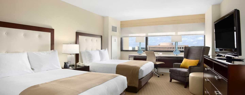 Hilton Miami Airport Hotel, Florida – Suite mit Doppelbett