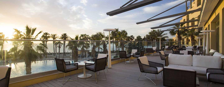 Hilton Malta Hotel, San Ġiljan, Malta, Lobby Lounge und Terrasse