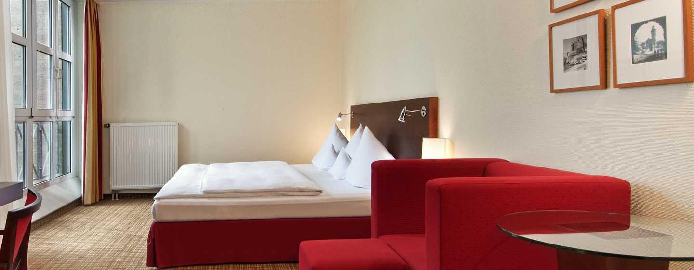 Hilton Nuremberg– Plus Zimmer mit Kingsize-Bett