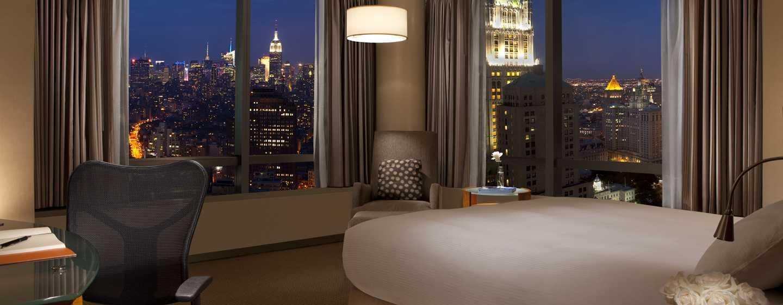 Entspannen Sie nach einem anstrengenden Tag in New York in Ihrem komfortablen Zimmer