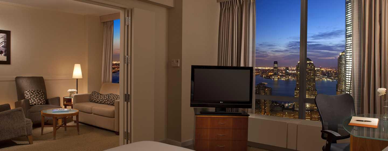Die große Suite verfügt über einen abtrennbaren Wohnbereich