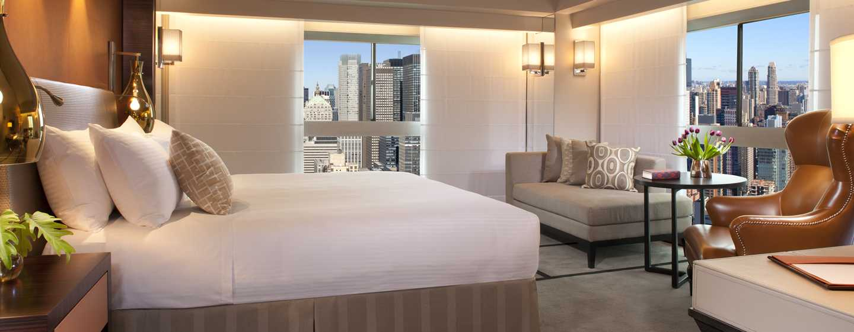 Millennium Hilton NewYork One UNPlaza, USA– Eckzimmer mit King-Size-Bett