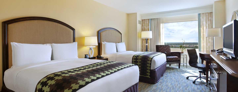 Hilton Orlando Bonnet Creek, Florida, USA– Zimmer mit zwei Queensize-Betten