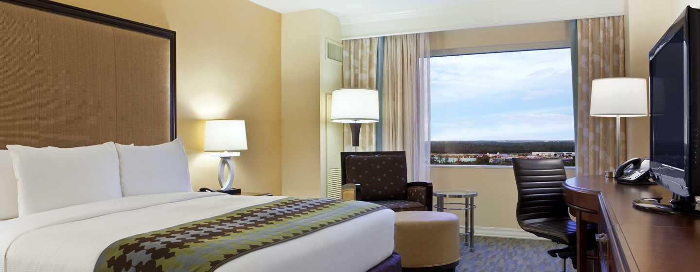 Hilton Orlando Bonnet Creek, Florida, USA– Zimmer mit Kingsize-Bett