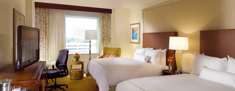 Hilton Orlando Hotel, Florida, USA– Zimmer mit zwei Queen-Size-Betten