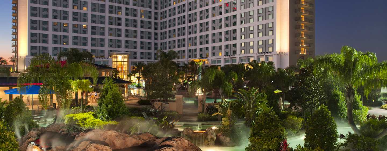 Hilton Orlando Hotel, Florida, USA– Außenbereich des Hotels