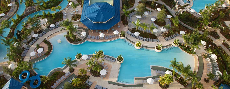 Hilton Orlando Hotel, Florida, USA– Hauptpool des Resorts
