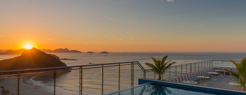 Hilton Rio de Janeiro Copacabana Hotel, Brasilien– Dachswimmingpool
