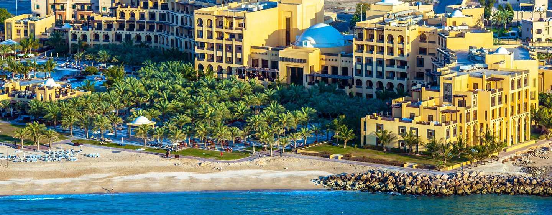 Hilton Ras Al Khaimah Resort & Spa Hotel, VAE– Luftaufnahme des Hilton Ras AlKhaimah Resort& Spa