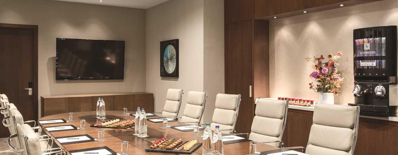 Hilton Rotterdam hotel, Netherlands - Kruiskade- a high end boardroom meeting set in a luxurious room