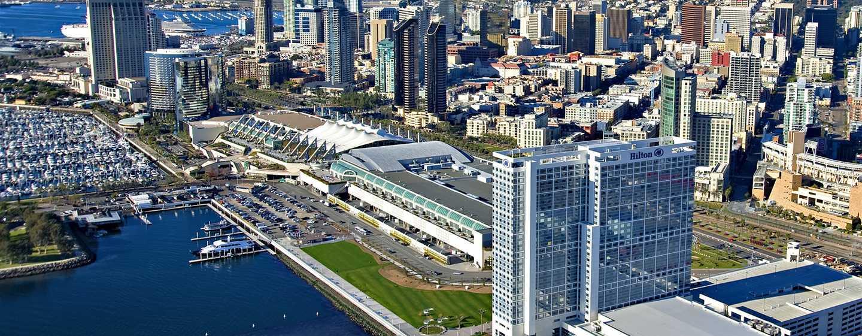 Hilton San Diego Bayfront, Kalifornien, USA– Außenbereich des Hotels